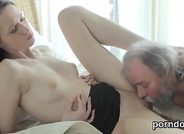 Sensual college girl acquires seduced and shagged by her older crammer