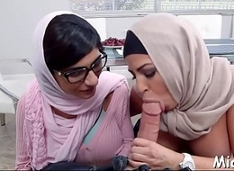 Cock-jerking performed give arab broadcast