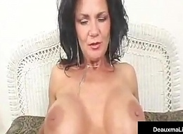 Unfledged Spotted Mature Mummy Deauxma Acquires A Dick All over Her Grasping Ass!