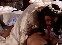 Milf bride gets jizzed on gut inspection gender