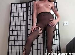 I will let you stroke to me in my fishnets JOI