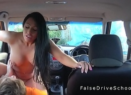 Tanned order about driving pupil bangs