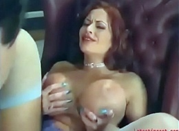 Big-tit mommy gratifying son in a HARDCORE fianc'